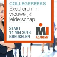 Collegereeks Excelleren in vrouwelijk leiderschap – Start 14 mei 2018