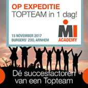 OP EXPEDITIE TOPTEAM in 1 dag! – 15 november 2017