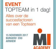 Event TOPTEAM in 1 dag! – 15 november 2017