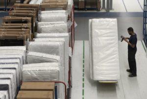 Fabricage van een matras